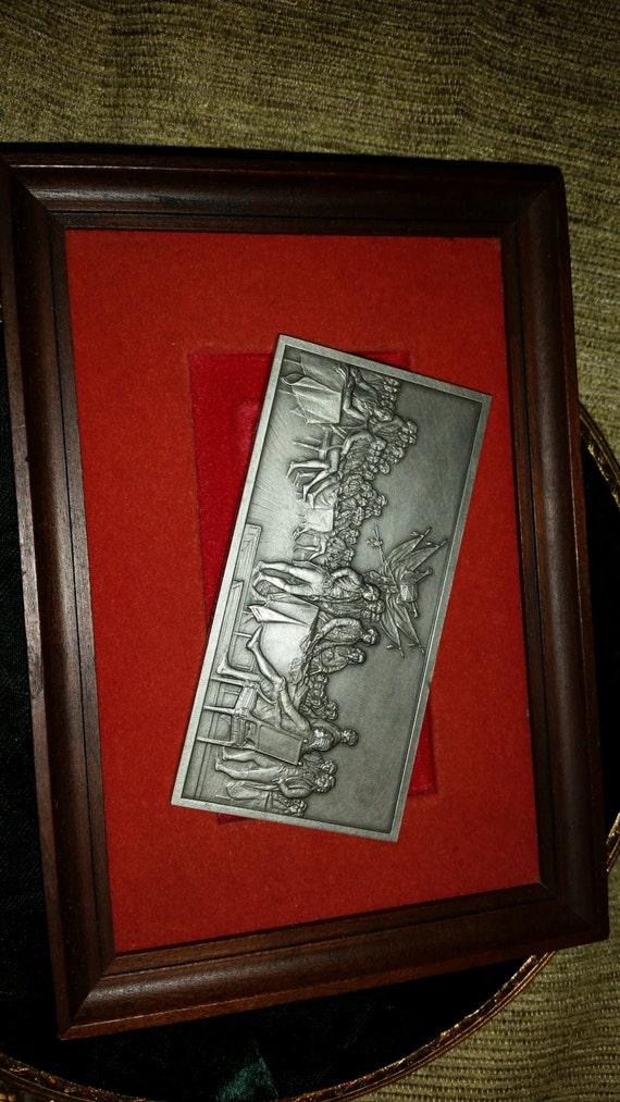 Solid Fine Pewter Ingot Official Independence Hall Signing Of