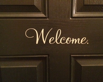 "Front Door ""Welcome"" Decal"
