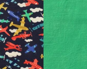 Airplane Fleece Blanket(K117)