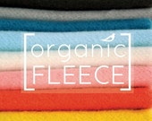 Organic Fleece, Mod Basics Fleece, Organic Cotton Fleece Birch Fabrics  - UK Seller - Sold by the FAT QUARTER
