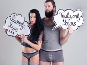 Yours Truly Couples Underwear Set READY TO SHIP
