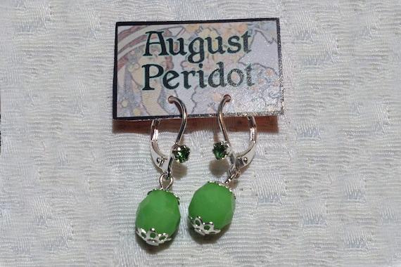 August Birthstone Earrings Peridot