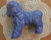 Vintage McCoy Blue Lamb Planter 1940 Era