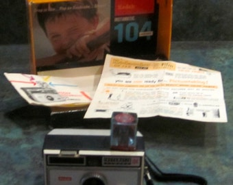 Vintage Kodak Instamatic 104 with Box and Manuals 1960 Era