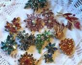 Lot of Multicolor Rhinestone Jewelry