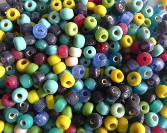 1 Pound multy colour tyre(round) shape supplies,Beads handmade, 8x4 mm glass beads mix.