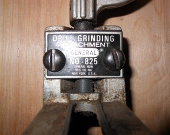 Drill Grinding Attachment General Hardware No.825 1960s Sharpening Tool New York USA