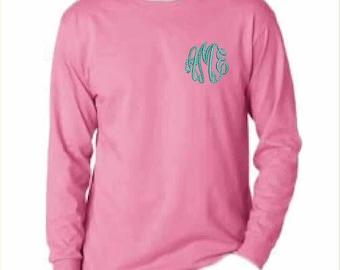 Monogrammed Long Sleeve T Shirt