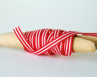 Red & White Stripe Grosgrain Ribbon 3/16 Inch 5 Yards Gift Wrapping Ribbon Gift Wrap