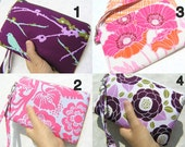 Wedding Clutch 2 pockets,medium,pink,purple,discount plan set, wristlet, cotton wristlet, zipper