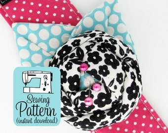 Rose Pincushion Cuff PDF Sewing Pattern | Wrist Pin Cushion Bracelet Sewing Pattern Tutorial