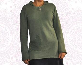 Organic Cotton and Hemp Hoodie Custom made and dyed