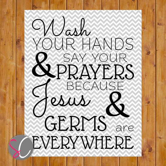 ... Prayers Chevron Bathroom Wall Art 8x10 Digital JPEG Printable (33