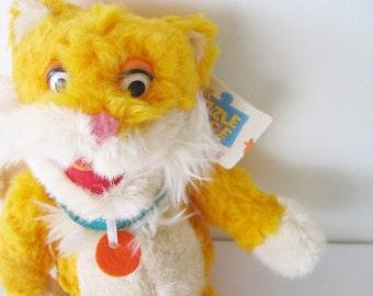 The Puzzle Place Sizzle the Cat Plush Vintage 90s Stuffed Toy Russ KCET