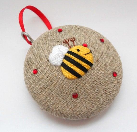 Merry Bee Christmas Bauble - Mason Bee 2014
