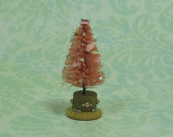 Dollhouse Miniature Peach & Pink Table Top Tree