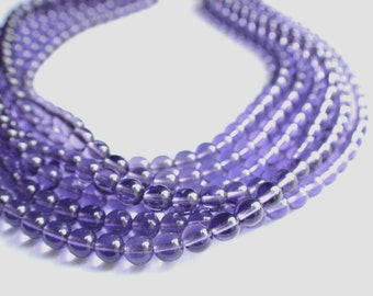 CLEARANCE- The Michelle- Lilac Czech Glass Statement Necklace