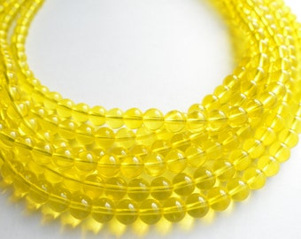 The Michelle- Yellow Czech Glass Chunky Necklace