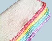 "12 organic baby wipes - Cloth Diaper Wipes -  Organic Washcloths - Hemp Organic Cotton French terry. 9"" square"