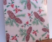 Vintage Pine Cone Christmas Coaster