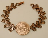 Irish Coin Bracelet 1971 Stylized Bird