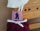 Vintage 1940s Nautical Romper Playsuit Baby 12 24 Months 2014536