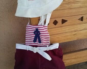 Vintage 1940s Nautical Romper Jumpsuit Baby 12 24 Months 2014536