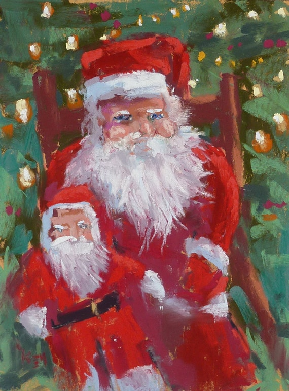 Vintage Santa Claus Paintings | www.imgkid.com - The Image ...