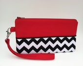 SALE -- the red room wristlet - twin peaks - ready to ship!