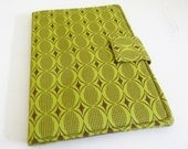 Lime Green and Brown Modern Print Kindle 2 Cover