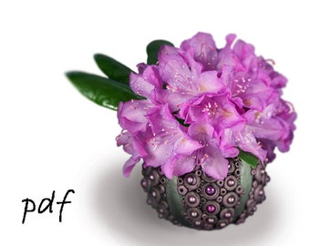 Polymer clay vase tutorial, sea urchin vase, pdf, eBook, DIY, instant download
