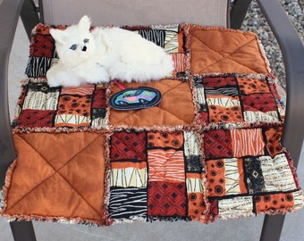 Cat Blanket, Cat Bed, Travel Pet Bed, Crate Mat, Luxury Cat Bed, Copper Designed Cat Bed, Small Dog Mat, Pet Accessories, Catnip Mat