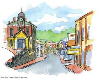 Historic Ellicott City, MD, Main Street- art print in multiple sizes