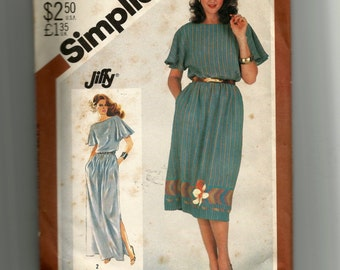 Simplicity Misses' Pullover Loose-Fitting Dress In Two Lengths Pattern 5501