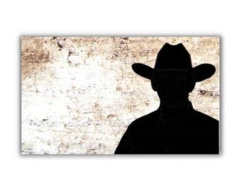 Cowboy Silhouette refrigerator fridge Magnet kitchen decor rustic country western cowboy hat