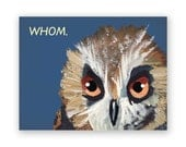 Whom Card - Humor - Bird - Greeting - Stationery