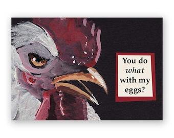 Eggs Magnet - Bird - Chicken - Humor - Gift - Stocking Stuffer - Mincing Mockingbird