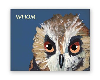 Whom Card - Humor - Bird - Greeting - Stationery