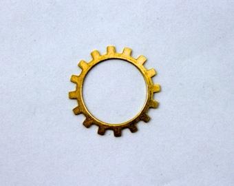 20mm Raw Brass Open Gear #SMP002
