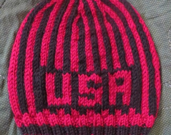 USA snow hat one size fits most