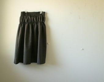 WOOL SKIRT - e / dark brown / black / midi / maxi skirt / long wool skirt / womens winter clothing / eco / plus size / pamelatang australia