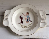1950's Vintage Jimmy Weeks and Nosy child's plate Homer Laughlin