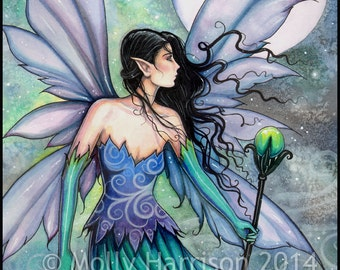 Cry of the Wind - Fairy Fine Art Giclee Print - Fantasy Art by Molly Harrison 9 x 12