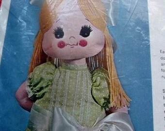 Vintage Bucilla Sewing Craft Kit - Jennie Toy Girl Doll Creative Needlecraft Kit no. 1677