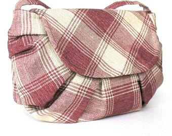 Small purse, cross Body purse ,handmade  plaid shoulder bag  , tartan messenger bag , girls fashion bag , teens bag , vegan bag , Vegan gift