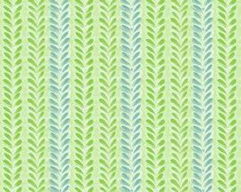 SALE The Makers, Leafy Parade Green by Cori Dantini Blend Fabrics 1 Yard