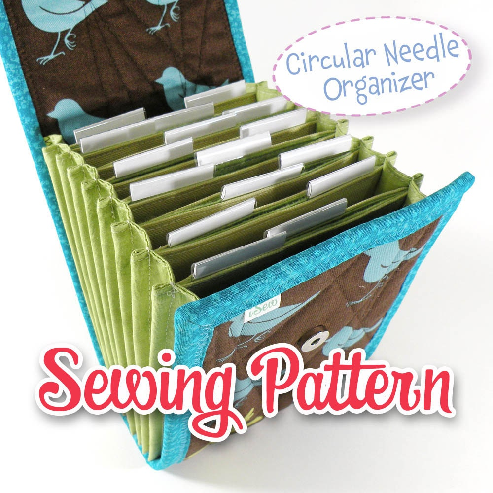 PDF SEWING PATTERN Circular Needle Organizer Knitting Needle