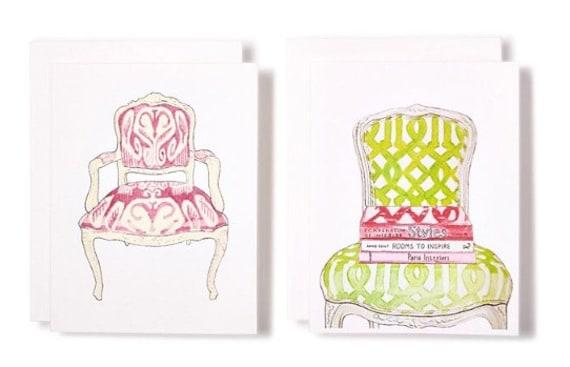 IKAT & TRELLIS Chair Notecards