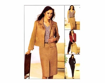 Misses Jacket Top Pants Skirt McCalls 3600 Sewing Pattern Size 6 - 8 - 10 - 12 Bust 30 1/2 -31 1/2 - 32 1/2 - 34 UNCUT