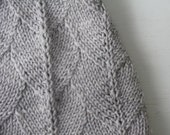 Gray Wool Baby Bonnet